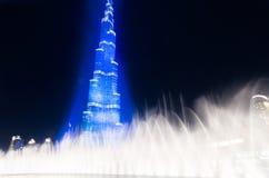 Dubai que celebra el recibimiento de la expo 2020 Foto de archivo