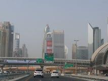 Dubai. Road near to burj khalifa, dubai, United arab emirates Royalty Free Stock Image