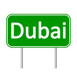 Dubai road sign. Stock Photo