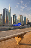 Dubai - The Road to Abu Dhabi Stock Photography