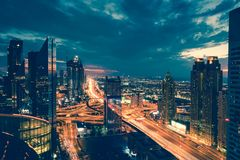 Dubai rush hour Stock Images