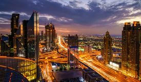 Dubai rush hour Royalty Free Stock Photos