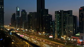 Dubai's main road time lapse. Video of dubai's main road time lapse stock footage