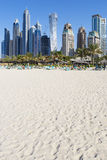 Dubai sand beach Royalty Free Stock Photo