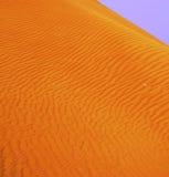 Dubai Sand Dunes. Painting like picture of the Sand Dunes in Dubai stock photo