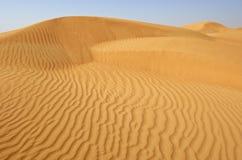 Dubai, sanddune in der Wüste stockbilder