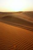Dubai, sanddune in the desert Stock Images