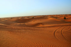 Dubai, sanddune in the desert Royalty Free Stock Photos
