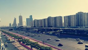 Dubai sheikh zayed road-2 royalty free stock photography