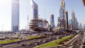 Dubai Sheikh Zayed Road royaltyfri fotografi