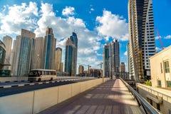 Dubai Sheikh Zayed Road royalty free stock image
