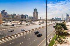 Dubai Sheikh Zayed Road Stock Image