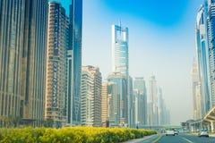 Dubai Sheikh Zayed väg 15 09 Tomasz Ganclerz 2017 Arkivfoto