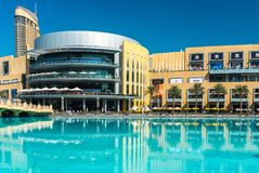 Dubai shoppinggalleriayttersida Arkivfoto
