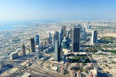 Dubai sikt. Arkivfoto