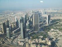 Dubai Sikt av Dubai från en höjd Arkivbilder
