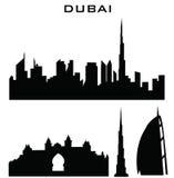 Dubai. Silhouette of buildings united arab Royalty Free Stock Photo