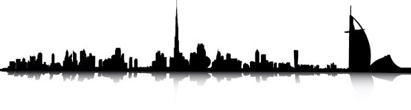 Dubai skyline royalty free illustration