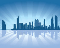 Dubai skyline. With reflection in water Stock Images