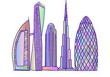 Dubai skyline2 Stock Image