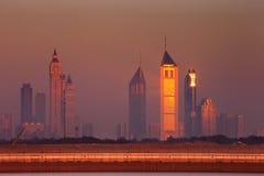 Dubai skyline as seen from Business Bay Stock Photos