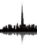 Dubai skyline with burj dubai Stock Photo
