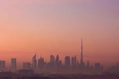 Dubai skyline and Burj Khalifa royalty free stock image