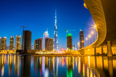 Dubai skyline. The skyline of Dubai with Burj Khalifa