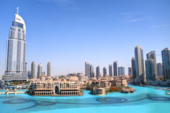 Dubai skyline daytime Royalty Free Stock Images