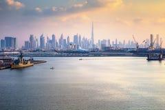 Dubai - The skyline of Downtown stock image