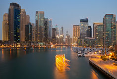 Dubai Skyline from Marina Stock Photo