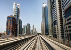 Dubai Skyline from Metro Stock Photos