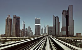 Dubai Skyline from Metro Stock Images