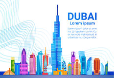 Dubai Skyline Panorama, Modern Building Cityscape Business Travel And Tourism Concept Royalty Free Stock Photo