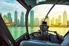 Dubai skyline scenic flight Royalty Free Stock Photo