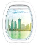 Dubai skyline scenic flight Royalty Free Stock Image