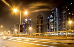 Dubai skyline and skyscraper royalty free stock photography