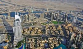 Dubai skyline top view Stock Photos