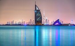 Dubai-Skyline, Dubai, UAE stockfotos