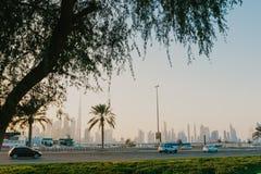 Dubai skyline view royalty free stock photo