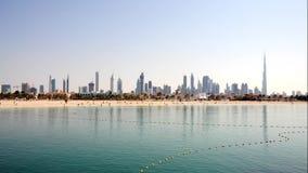 Dubai Skyline Zoom In stock footage