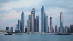 Dubai skyscraper view stock video footage