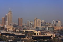 Dubai skyscrapers in al barsha Stock Photography