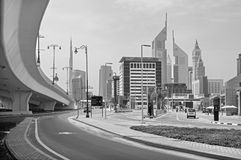 Dubai - The skyscrapers of Downtown. With the Emirates towers Royalty Free Stock Images
