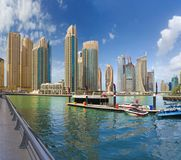 Dubai - The skyscrapers and hotels of Marina and the promenade. Stock Images