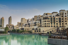 Dubai skyscrapers under Burj Dubai Royalty Free Stock Photography