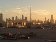 Dubai Skyscrappers Imagem de Stock Royalty Free