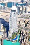 Dubai skyskrapasikt. Royaltyfria Bilder