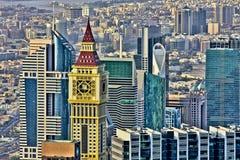 Dubai skyskrapor Arkivfoton