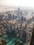 Dubai skyview from Burjkalifa Stock Photo